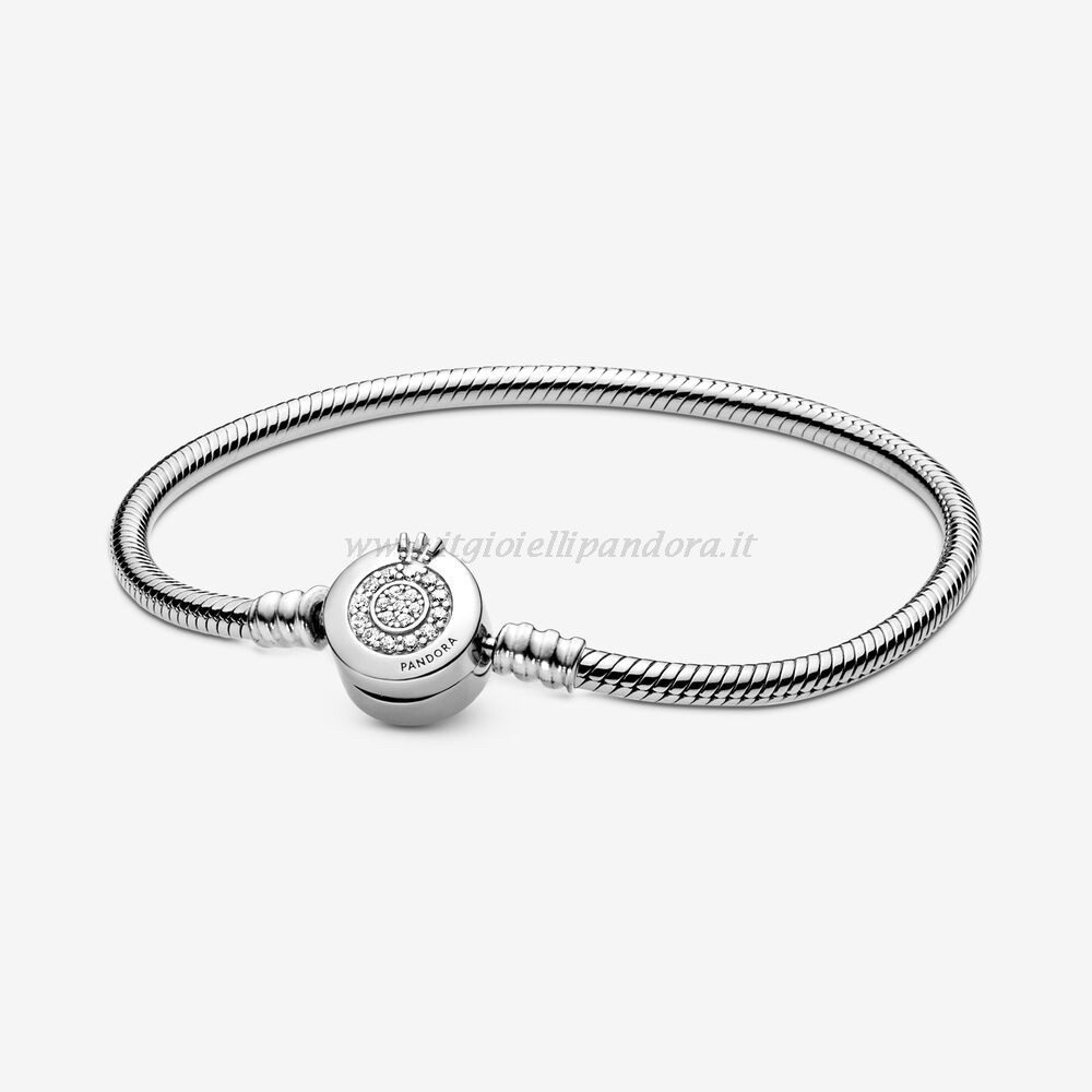 Shop Pandora Pandora Moments Scintillante Corona O Catena Di Serpenti Bracciali Collezione