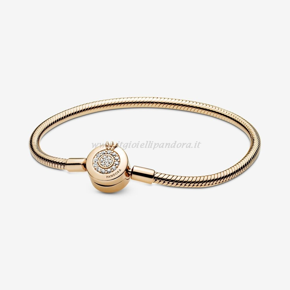 Shop Pandora Pandora Moments Scintillante Corona O Catena Di Serpenti Shine Bracciali Collezione
