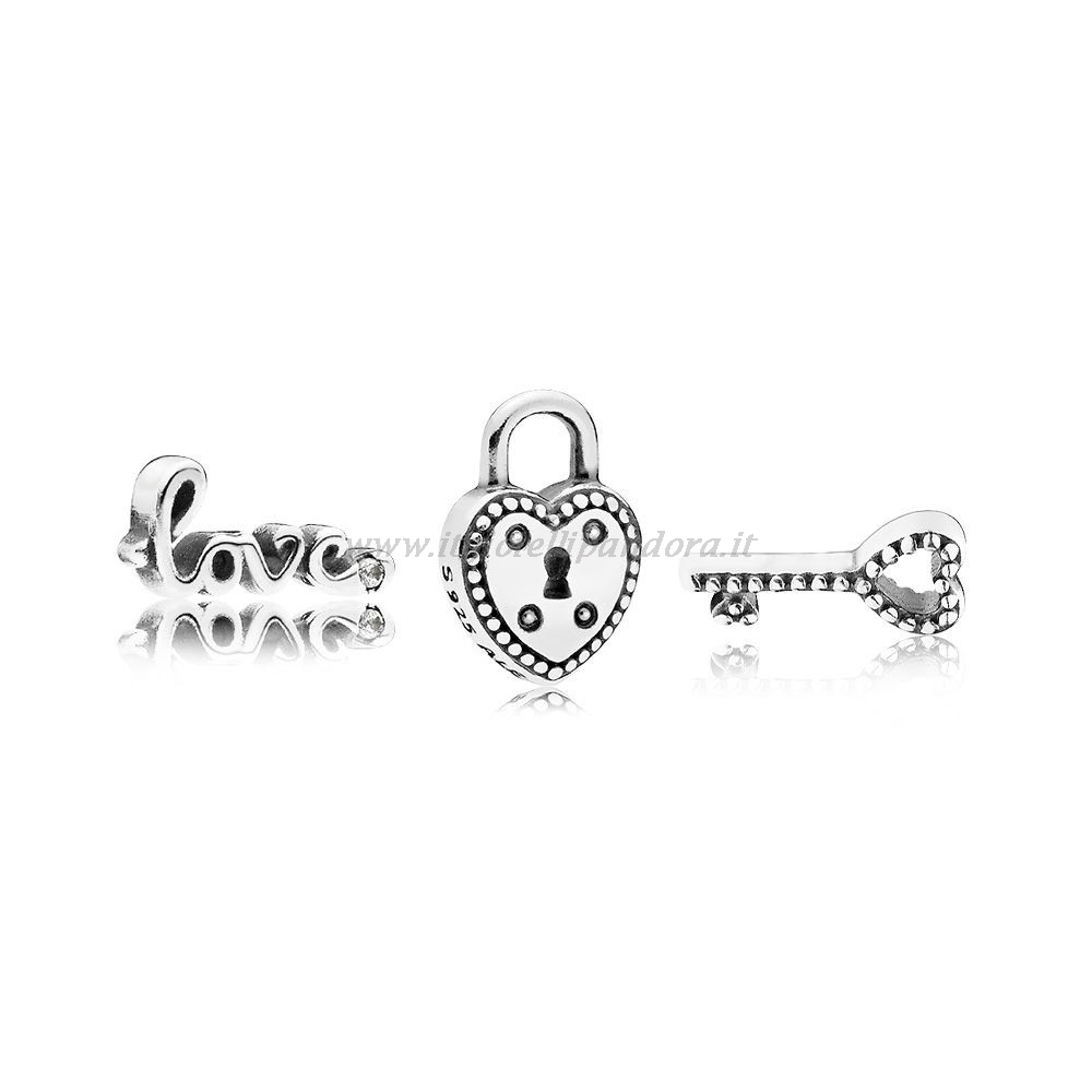 Shop Pandora Key To My Heart Petite Charm Pack Collezione