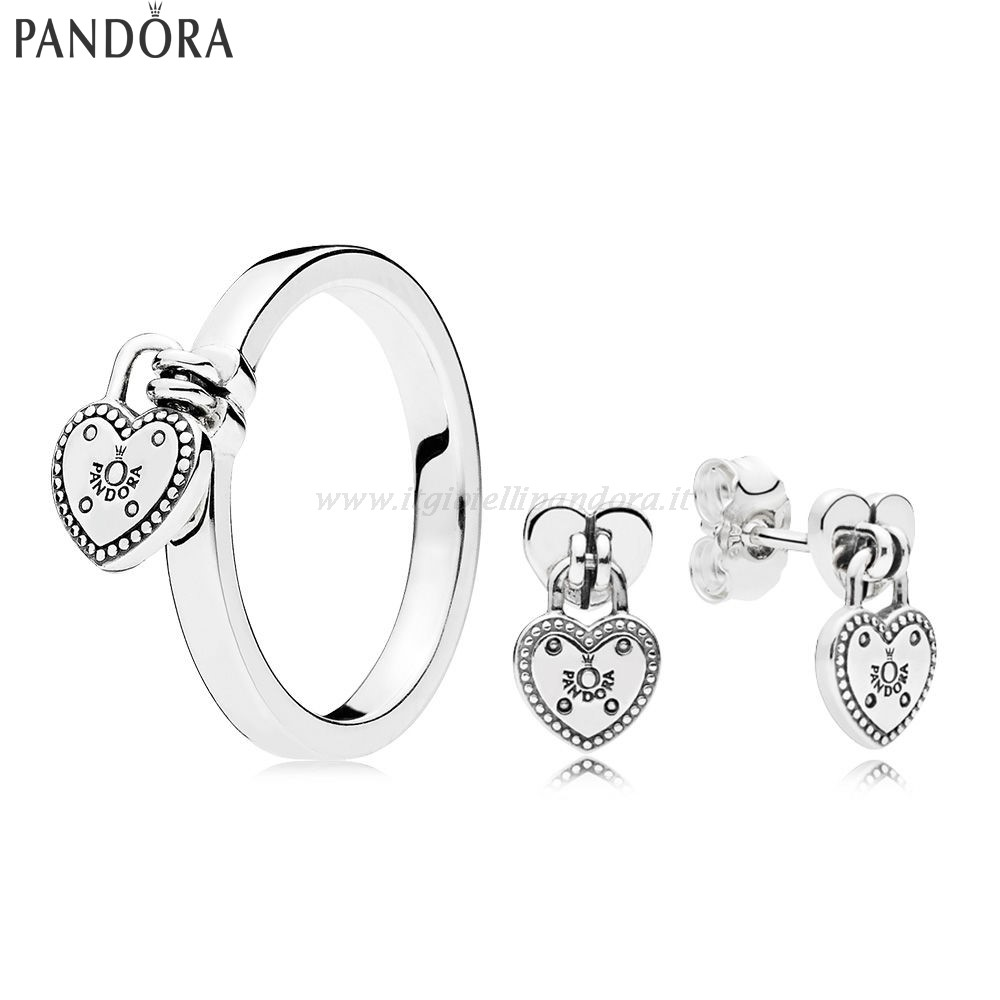 Shop Pandora Amore Lock Anelli And Earring Collezione
