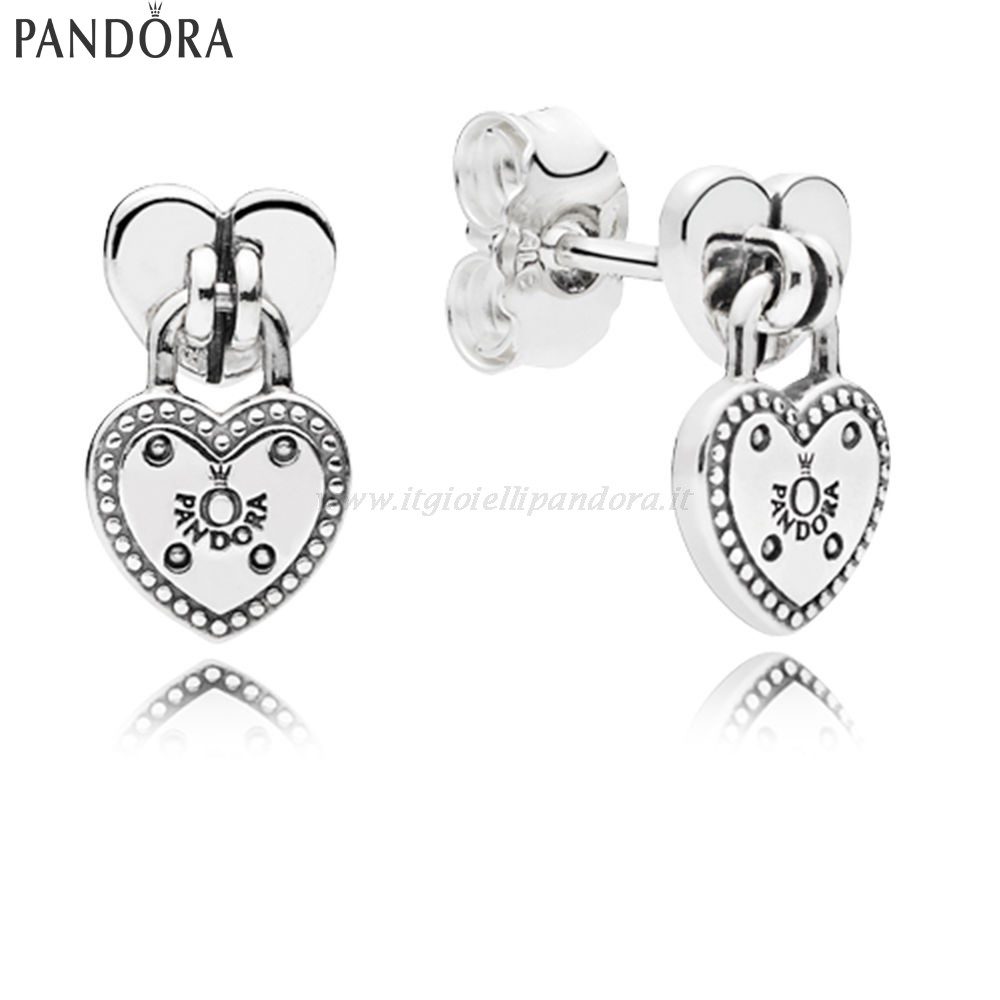 Shop Pandora Amore Locks Stud Earrings Collezione