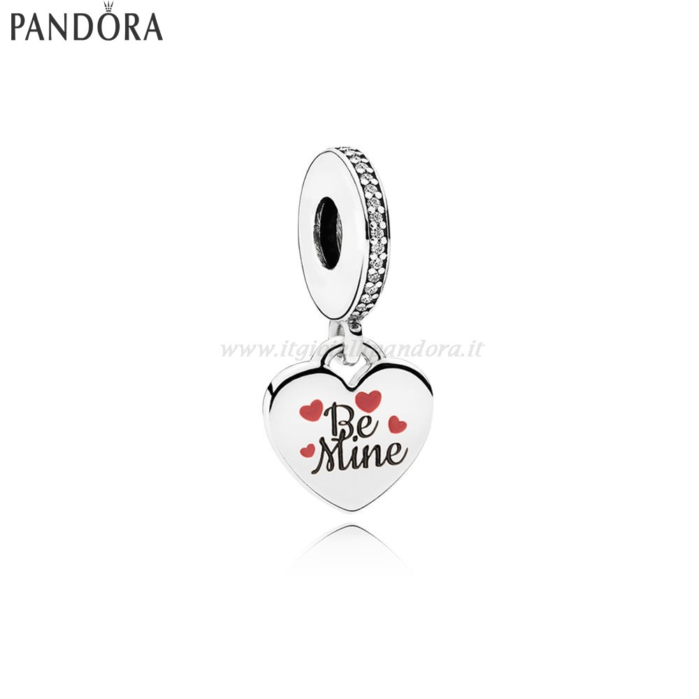 Shop Pandora Be Mine Dangle Charm Burgundy Nero Enamel Collezione