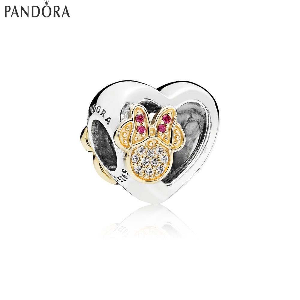 Shop Pandora Disney L'Iconico Amore Di Mickey Mouse E Minnie Collezione
