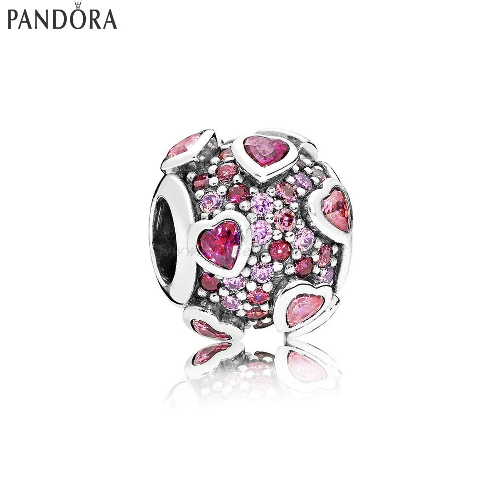 Shop Pandora Explosion Of Amore Charm Multi Colored Collezione