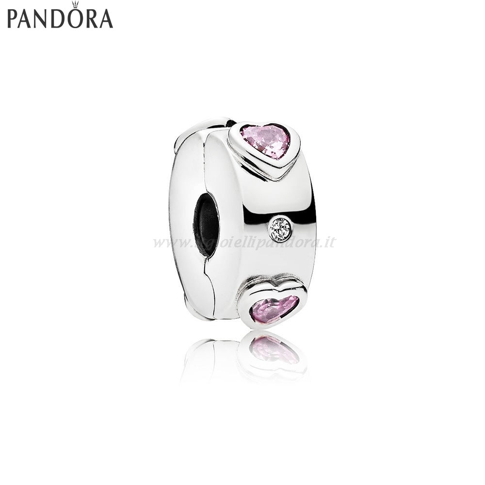 Shop Pandora Explosion Of Amore Clip Fancy Fuchsia Pink Clear Collezione