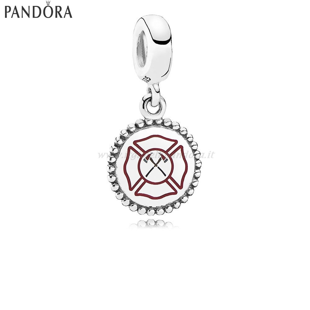 Shop Pandora Firefighter Dangle Charm Mixed Enamel Collezione