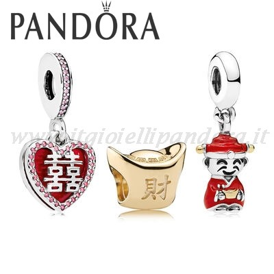 Shop Pandora Happiness Fortune And Luck Charm Pack Collezione