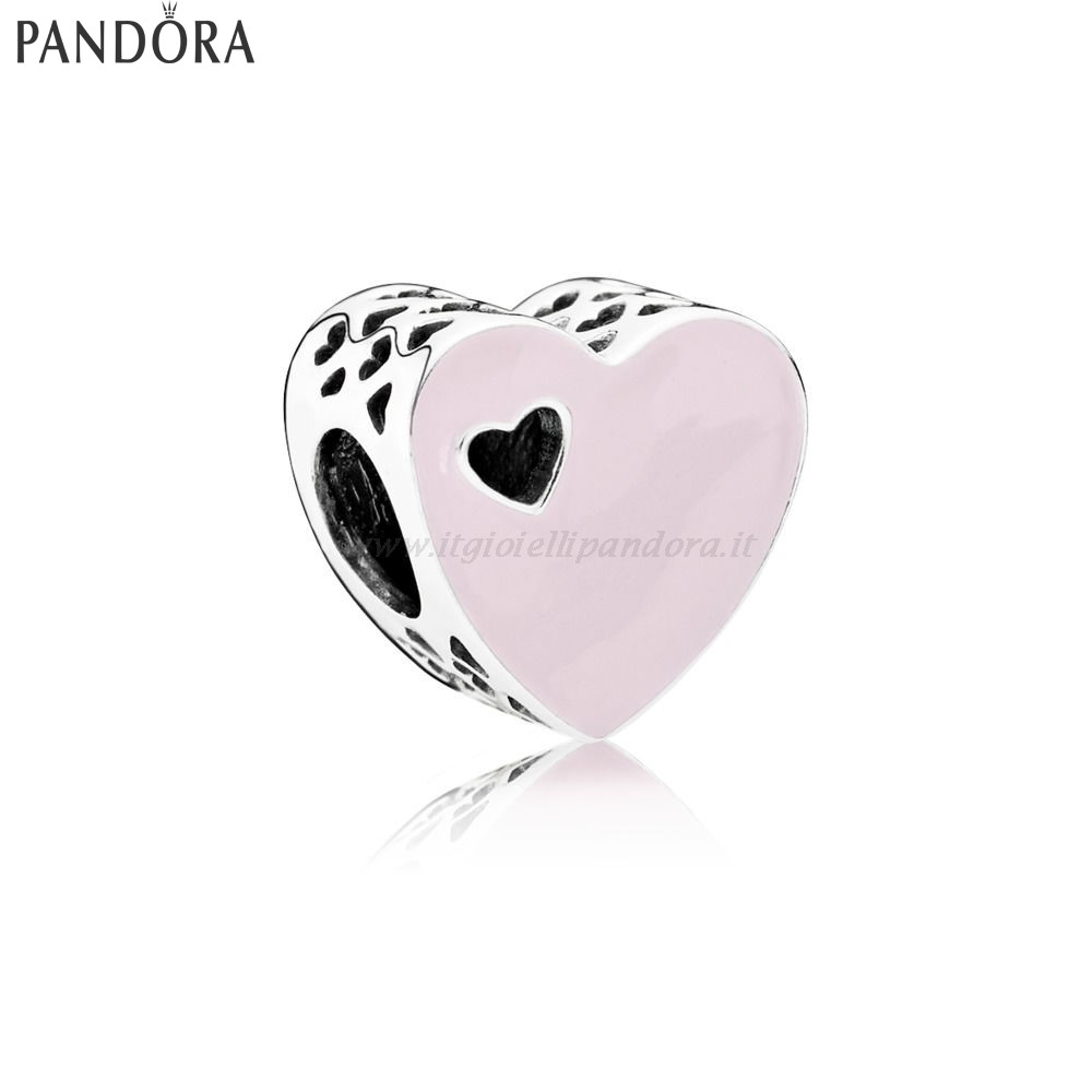 Shop Pandora Heart Silver Charm With Pink Enamel Collezione