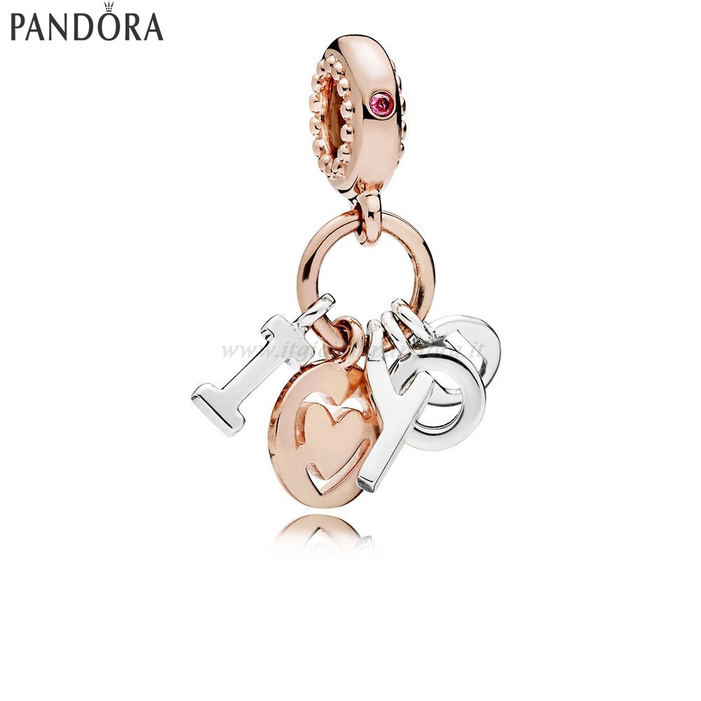 Shop Pandora I Amore You Dangle Charm Rose Red Collezione