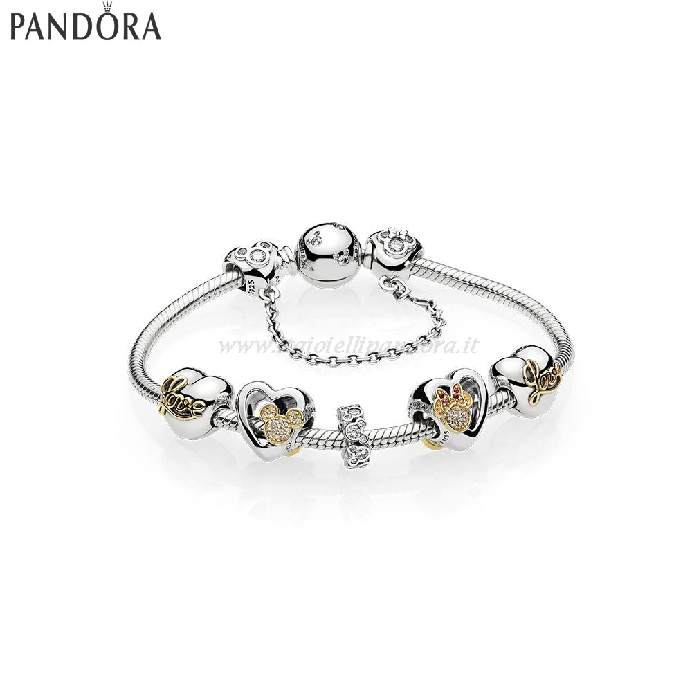 Shop Pandora L'Iconico Amore Di Mickey Mouse E Minnie Collezione