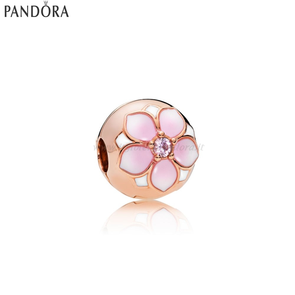 Shop Pandora Pandora Rose Magnolia Bloom Clip Collezione