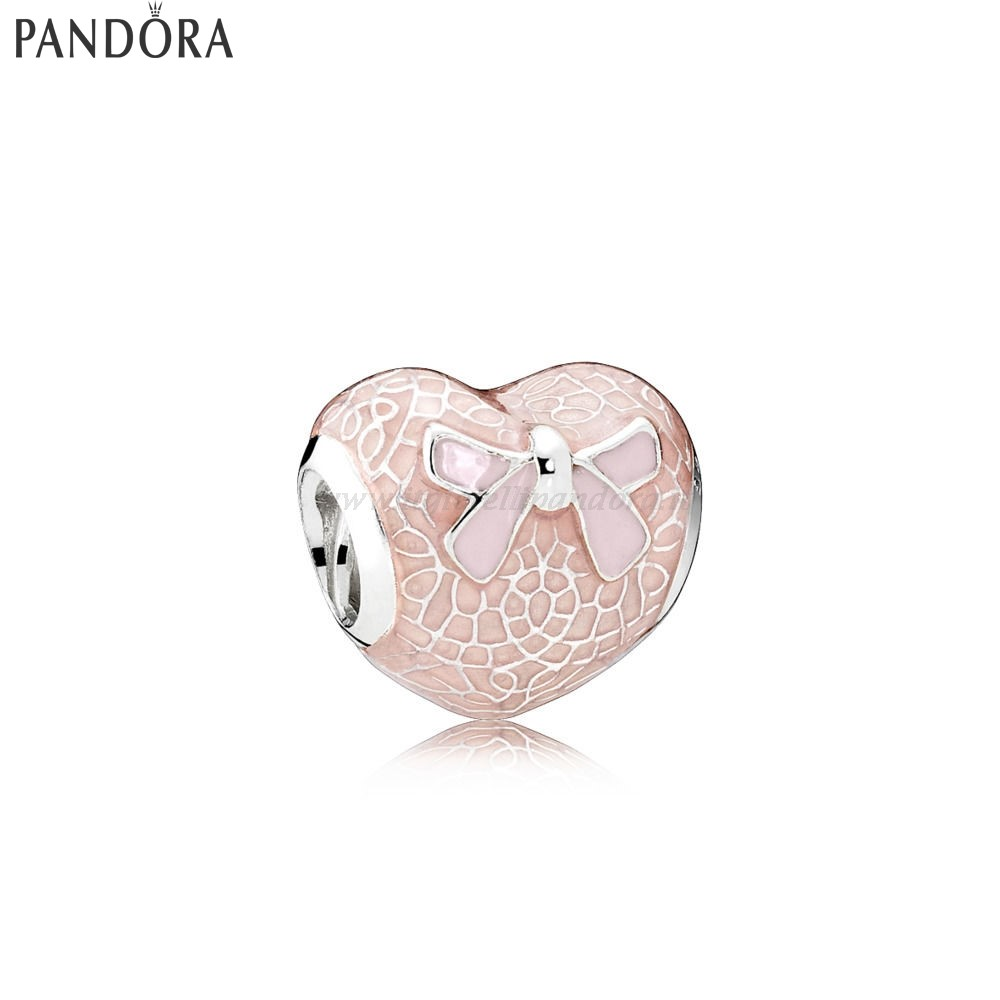 Shop Pandora Pink Lace And Bow Charm Collezione
