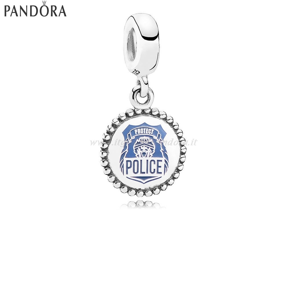 Shop Pandora Police Dangle Charm Blue Enamel Collezione