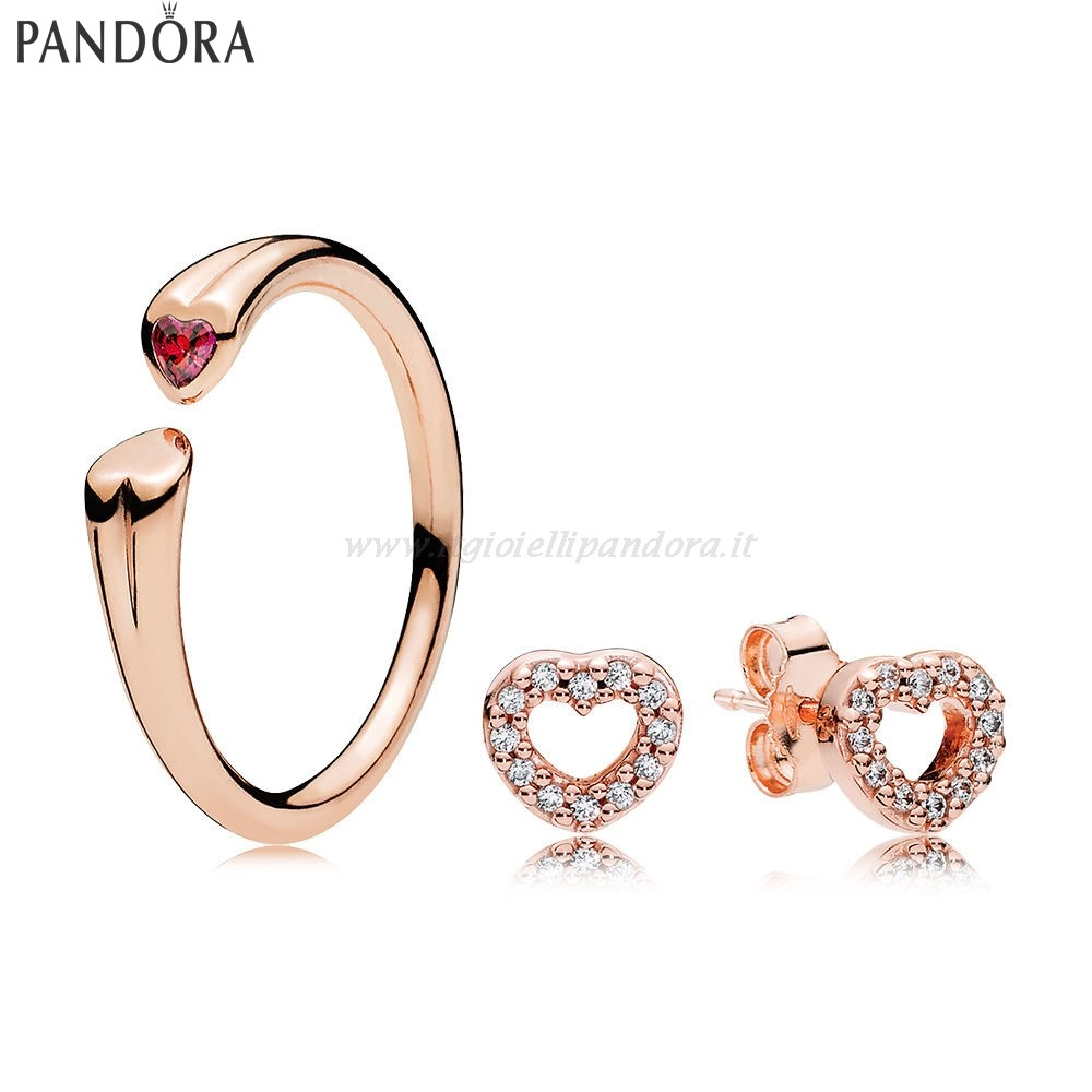 Shop Pandora Rose Blushing Cuores Gift Collezione