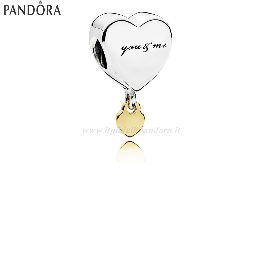 Shop Pandora Two Cuores Dangle Charm Collezione